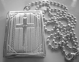925 Sterling Silver Fashion Bible Locket Necklace