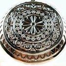 925 Sterling Silver Fashion Round Pinwheel Flower Locket Necklace