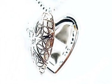 925 Sterling Silver Fashion Heart Locket Necklace