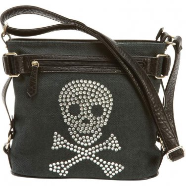 Rhinestone Skull Handbag