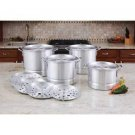 Aluminum Steamer Stockpot Set 8 QT 12 QT 16 QT 20 QT, Dishwasher Safe With Lid