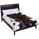 """Cow Print Soft Plush Luxury Blanket Queen or King Size Bed 79"""" x 91"""