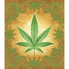 "Sacred Herb Luxury Blanket 100% polyester Measures 79"" x 91"
