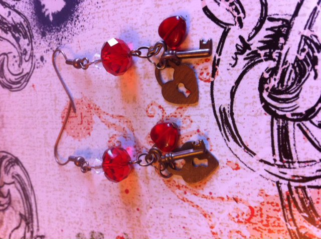 You Hold The Key To My Heart Earrings
