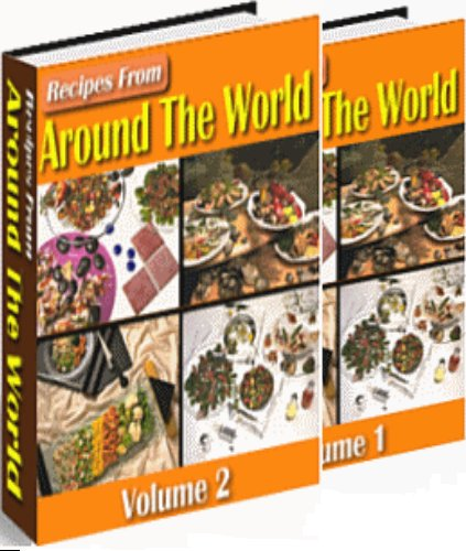 recipes from around the world vol1+ vol2 ebooks + resell rights