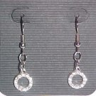 Crystal Hoops Earrings  (Pierced Ears)