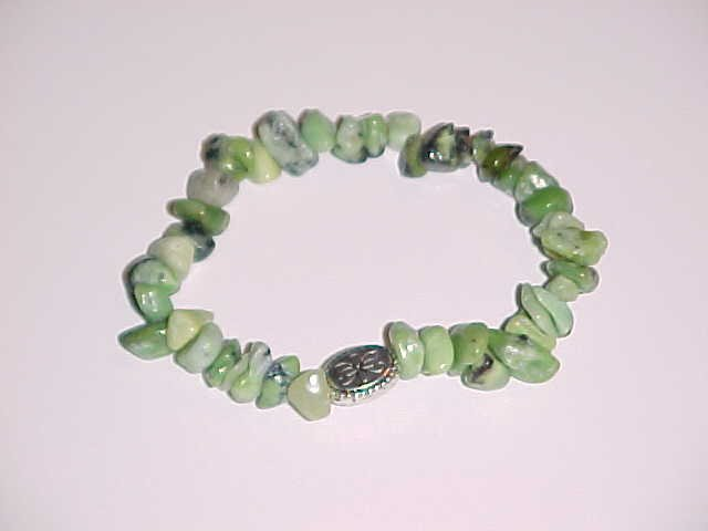 Green Grass Turquoise Beaded Stretch Bracelet 6.5 - 7 inches