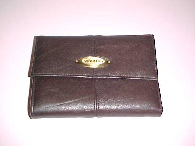 Women's Capezio Faux Leather Wallet (Dark Brown)