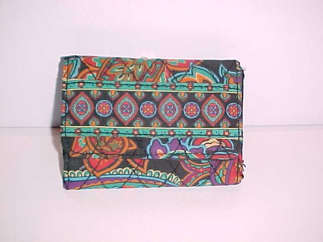 (SOLD) Women's Multi-Colored Quilted Fabric Wallet (Bohemian Boho Colors)