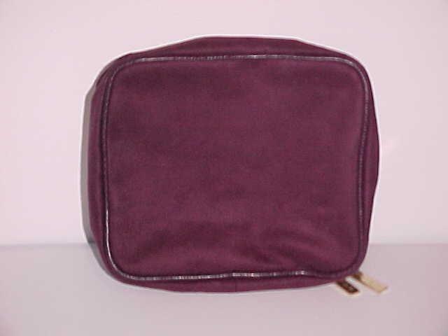 (SOLD) Burgundy Estee Lauder 2 in 1 Cosmetic Bag