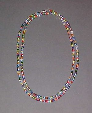 Multi Colored Necklace Wrap Bracelet 34 inches