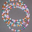 Multi Colored Pastel Necklace Wrap Bracelet 34 inches