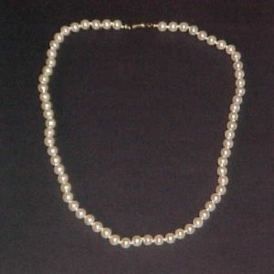 Vintage Marvella Cream Faux Pearl Necklace 22 inches
