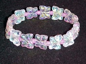 Shimmering Butterflies Stretch Bracelet 7 to 7.5 inches