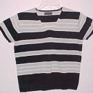 Banana Republic V-Neck Striped Short Sleeve Sweater Size Small