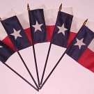 Mini Texas Flags 4X6 Lot of 5