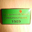 1989 Adolphus Children's Christmas Parade Enamel Pin Pinback