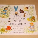 Poems to Read to the Very Young by Josette Frank (1977, Paperback)