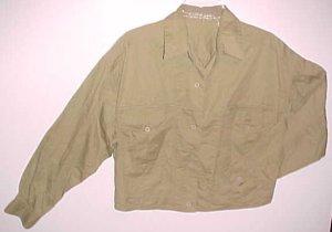 Vintage ESPRIT SPORT Womens Juniors Khaki Jacket Size Small