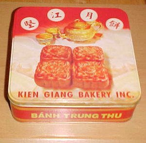 Vietnamese Chinese Mooncake Tin Box
