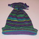 Vintage Old Navy Blue Green Purple Fuchsia Striped Hat Size Kids One Size