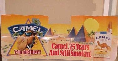 Vintage 75th Anniversary Joe Camel Car Auto Windshield Sun Shade