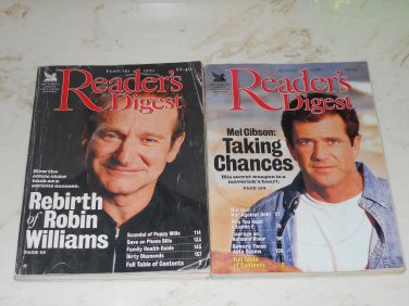 Reader's Digest February 1999 Robin Williams / August 1998 Mel Gibson