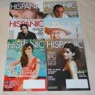 Lot of 6 Hispanic Magazines 2008/2009/2010 Benicio Del Toro/Nelly Furtado + MORE