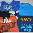 Lot of 7 2T 3T Boys Knit Tops Old Navy/Okie Dokie/Garanimals/Carters/Disney