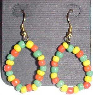 Rasta Hoop Beaded Earrings by Island Junkee
