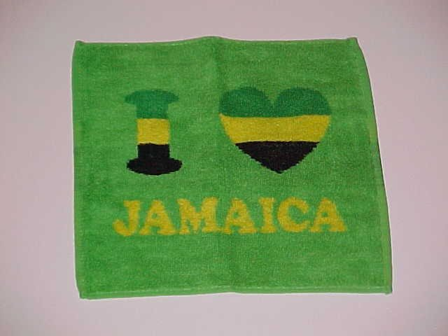 I Love Jamaica Hand Towel