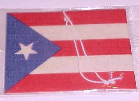 Puerto Rican Flag Car Air Freshener-Strawberry