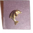 Vintage Gold Tone Jumping Dolphin Pin