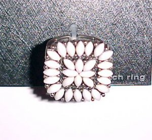 Fancy Shell Beaded Stretch Ring by City Rox (New on Card)