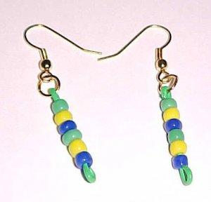 Brazil Colors Dangle Paper Clip Earrings by Island Junkee