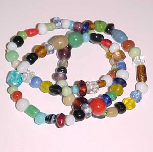 Set of 3 Multi-Colored Stretch Bracelets 7 - 7.5 inches by Island Junkee