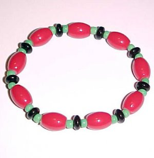 Pan African Beaded Stretch Bracelet 7 - 7.5 inches by Island Junkee