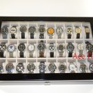 30 Watch (Premium Series) 1 Level Black Lacquer Display Storage Case Box + Gift