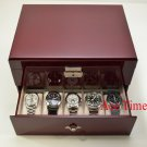 20 Watch Solid Top Rosewood Storage & Display Case Box + Free Polishing Cloth