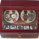 Quad (4) Watch Quality Winder Rosewood Finish + 5 storage Slots (6 settings)