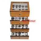 40 Watch (Premium Series) Bird's Eye Maple Storage Display Case Box + Cloth