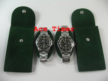 Pack of 10 Green Velvet Watch Pouch w/ Divider Fit Rolex
