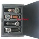 4 Watch Black Folder Traveling Storage Case Fit Panerai