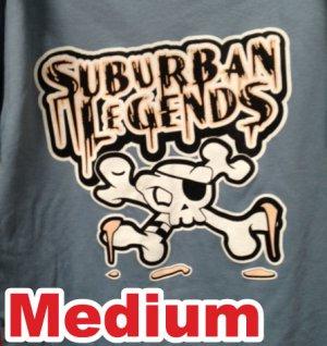 Light Blue Skull T-shirt Size: Medium