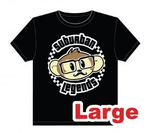 Hipster Monkey T-shirt Size: Large