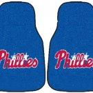 Carpet Floor Front Mats - MLB Baseball - Philadelphia Phillies - Pair