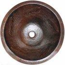 round copper sink