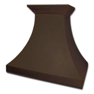 copper kitchen range hood