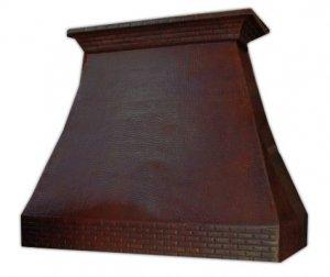 custom copper vent hood