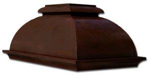 kitchen island copper hood